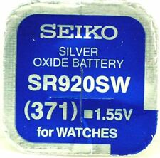 Seiko 371 (SR920SW) Silver Oxide (0%Hg) Mercury Free Watch Battery Made in Japan