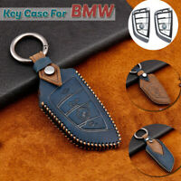 Leather Car Smart Key Fob Case Holder Cover For BMW X1 X3 X2 X5 X6 1 3 5 7Series