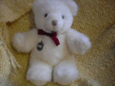 Christmas White Bear by gund with tag Collectors Classic Limited Edition 1983