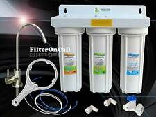 Under Sink 3 Stage Water Filter System all Lead Free NSF Component US Built 3WHT