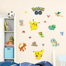 HOT POKEMON GO Carini Pikachu Adesivi Murali Adesivo Vinile Murale Bambini Camera Decor UK