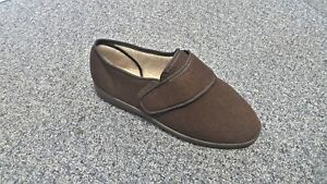SINGLE Mens Cosyfeet Richard Brown Adjustable Extra Wide Size 9 RIGHT FOOT ONLY