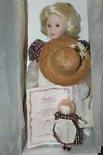 "Porcelain Doll ""Daisy"" by Artist Pauline Bjonness-Jacobsen Le with Box Doll"
