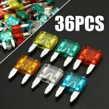 36Pcs Car Automotive Mini Blade Fuses Car Boat Fuse Set 7.5A 10A 15A 20A 25A 30A
