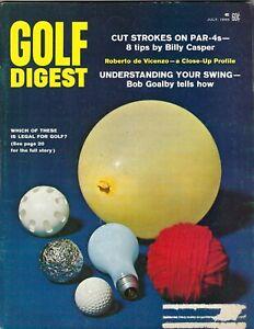 1968 JULY Golf Digest magazine Billy Casper Roberto de Vicenzo Bob Goalby GLR