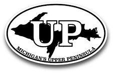 Michigan Upper Peninsula Oval Decal Sticker Extreme High Quality High Gloss