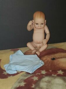 11'' Soft Vinyl Silicone Real Life Preemie Reborn Baby Boy Doll 1 Blue Outfit