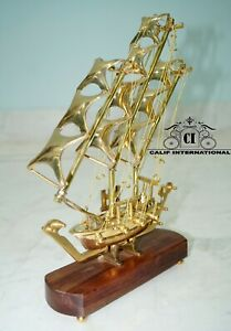 Nautical brass crafted marine sailors ship model collectible home & office decor