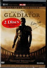 "Russell Crowe ""Gladiator"" 2 Dvd Set 2000 signature dreamworks sealed"
