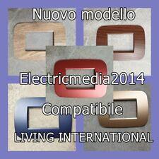 PLACCHE PLACCHETTE ABS NUOVO LIVING LIGHT/ INTERNATIONAL COMPATIBILI BTICINO