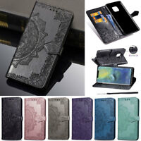 For Huawei Y7 2019 P30 Lite Honor 20 Lite Mandala Wallet Leather Flip Cover Case