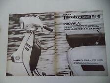 advertising Pubblicità 1977 LAMBRETTA 150 DL ELEGANT