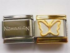 GENUINE NOMINATION LINK ITALIAN CHARM + UNBRANDED BUTTERFLY BRACELET CHARM G7