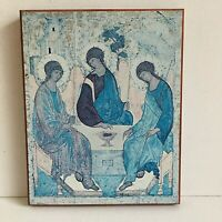 Reproduction Byzantine Wooden Icon 9.25in x 7.5in Religious Religion