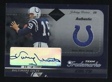 JOHN JOHNNY UNITAS 2003 LEAF LIMITED AUTO JERSEY 05/05 RARE BALTIMORE COLTS