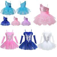 Kid Girls Ballet Tutu Dress Dance Leotard Swan Ballerina Dancewear Fancy Costume