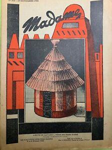 Antique French MADAME Magazine Nov 19,1931 - Needlecraft, knitting
