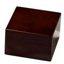Uhrenbox für 1 Uhr Wurzelholz-Design kastanienbraun Pianolack Uhrenschatulle