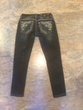 MISS ME jeans GIRLS JE563752N SKINNY womans 22 x 25