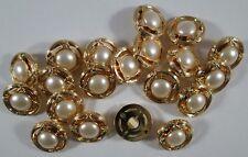 Knopf Knöpfe 20  stück  gold perle  knöpfe  18  mm groß   #1873#
