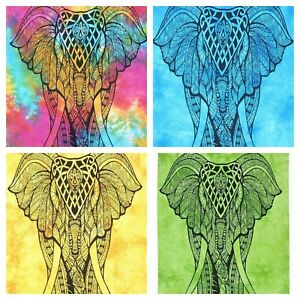 INDIAN STANDING ELEPHANT Cotton Wall Hanging Home Decor Bohemian Poster UK