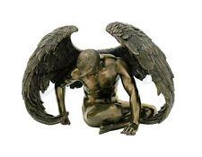 Male Nude Angel Looking Down Christian Statue Figure