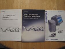 Sony VAIO computer user guide booklet w/ Quickstart booklet