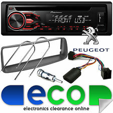 Peugeot 206 CC 2002 Pioneer CD MP3 USB Car Stereo & Steering Wheel Fitting Kit