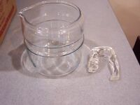 #C Pyrex Flameware 4 Cup Stove Top Coffee Percolator Pot Body handle Replacement