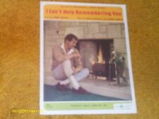 Dean Martin sheet music I Can't Help Remembering You 1967 3 pages (VG+ shape)