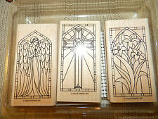 Stampin' Up! Stained Glass II~Set of 3~Cross/Angel/Flowers~Gently Used