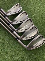 Set of Gen1 PXG 0311 Forged 6-PW Golf Club Irons Steelfiber i95 Regular Flex
