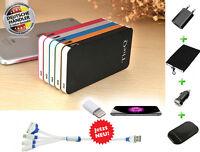 TheQ Power Bank PB05b# externe Akku 12000mAh USB Ladegerät Universal Schwarz Neu