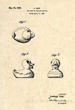 Official Rubber Duck US Patent Art Print Original Vintage Ducky Bath Toy 227