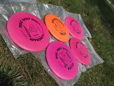 Very Rare 7 Ring Lot 1989 Disc Golf Collectible Set 3 Drivers, Approach & Putter