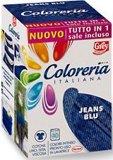 COLORERIA ITALIANA GREY - COLORANTE PER TESSUTI ** JEANS BLU ** NUOVO TUTTO IN 1