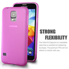 Matte Back HotPink Flexible TPU Case for Samsung Galaxy S5 - Ultra Thin 2014 NEW