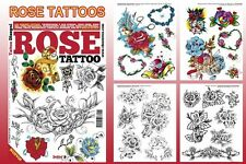 ROSE Tattoo Flash Design Book 66-Pages Cursive Writing Art Supply