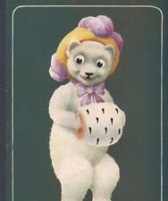 "ELLAM...COY TEDDY BEAR ASKS ""HOW'D YOU LIKE TO SPOON WITH ME? VINTAGE POSTCARD"