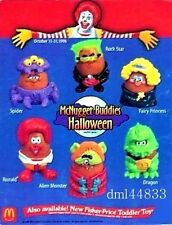 1996 McDonalds Halloween McNugget Buddies MIP Set - Lot 6, Boys & Girls, 3+