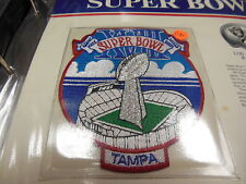 '84 Super Bowl Xviii Replica Patch With Game Nfl Football Notes Raiders Redskins