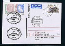59206) LH FF Palermo Italien - Frankfurt 27.3.2011, Karte ab Polen