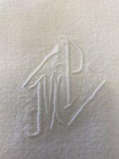 More details for set of 12 vintage french monogrammed napkins.