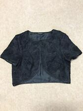 Debenhams Ladies Size 14 Black Bolero Jacket Hardly Worn