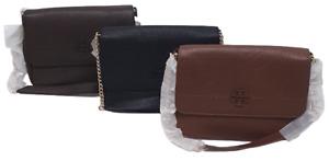 Womens Designer Handbag Tory Burch Crossbody Bag Black/Brown- 100% Original
