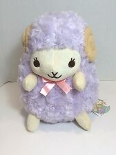 Purple Plush Lamblin stuffed animal Amuse Foreign writing 11 inch soft UNIQUE