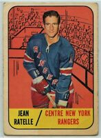 1967-68 Topps Hockey #31 Jean Ratelle Good Condition (2020-11)