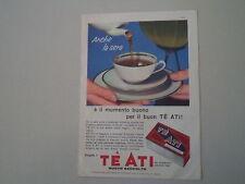 advertising Pubblicità 1961 TE' ATI
