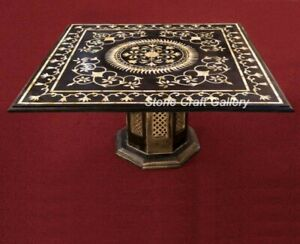 """36"""" Marble coffee Table Top Semi Precious Stones Handmade With Marble Stand"""
