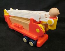 Vintage Playskool Woodles Real Hardwood Maple Fire Truck Ladder 1988 HTF
